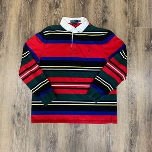 Striped Polo Rugby button up